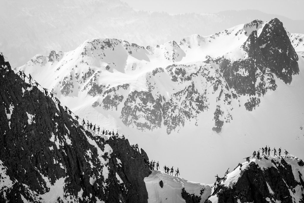 Grand Mont Ridge. Arête du grand Mont.