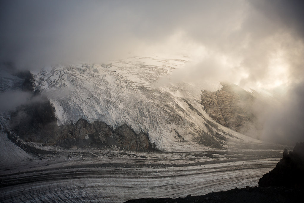Rognon glacier. Glacier des Rognons.